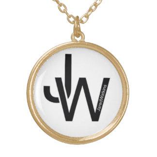 JaredWatkins gold plated circle logo necklace Jewelry