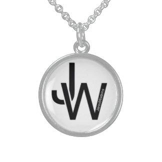 JaredWatkins sterling silver circle logo necklace Custom Jewelry