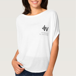 JaredWatkins women's basic white logo circle top