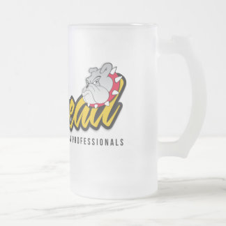 Jarhead Design Frosted Glass Beer Mug