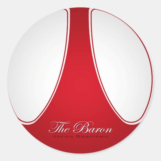 "Jarno ""The Baron"" Saarinen Classic Round Sticker"