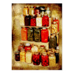 Jars of home-canned food