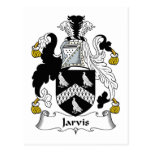 Jarvis Family Crest Post Card