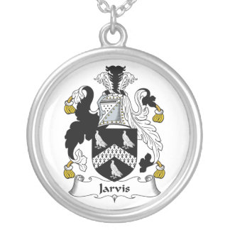 Jarvis Family Crest Silver Plated Necklace
