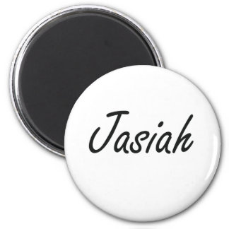Jasiah Artistic Name Design 6 Cm Round Magnet