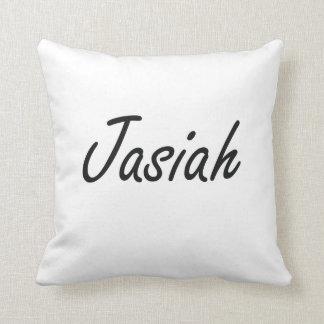 Jasiah Artistic Name Design Cushion