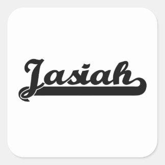 Jasiah Classic Retro Name Design Square Sticker