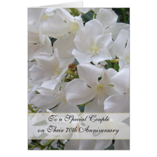 Jasmine 70th Wedding Anniversary Card