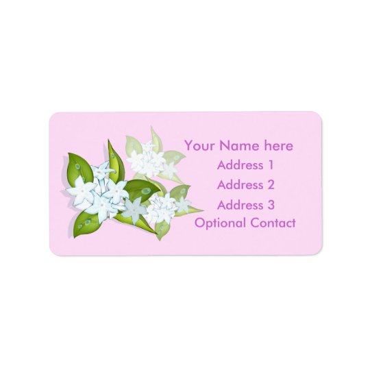 Jasmine Flowers Customisable Address Labels