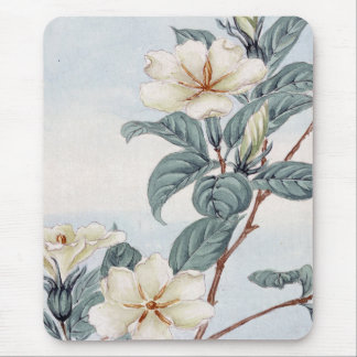 Jasmine Flowers (Vintage Japanese Art) Mouse Mat