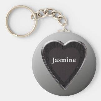 Jasmine Heart Keychain by 369MyName