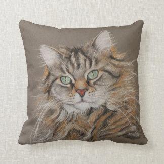Jasmine, long haired cat throw cushions