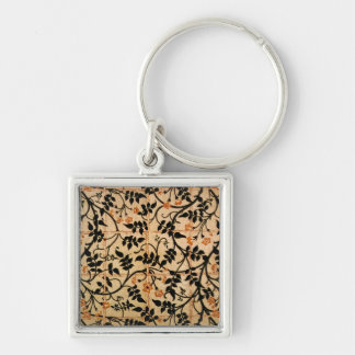 Jasmine trail curtain design, 1868-70 (printed cot Silver-Colored square key ring