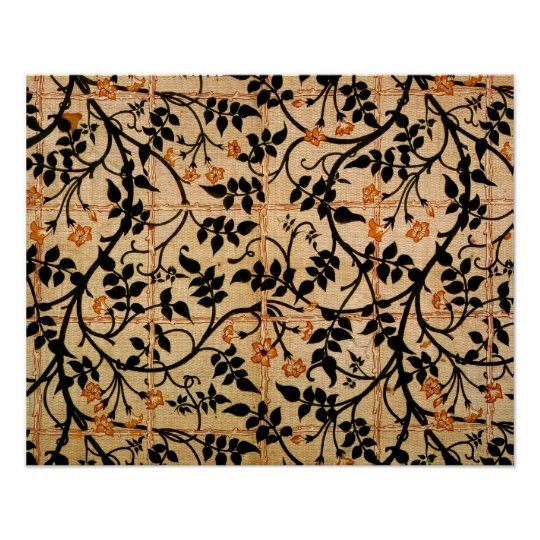 Jasmine trail curtain design, 1868-70 (printed cot poster