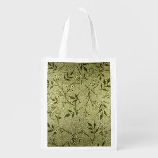 'Jasmine' wallpaper design, 1872 Reusable Grocery Bag