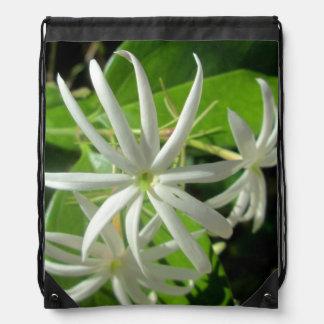 Jasmine White Green Flower Rucksacks