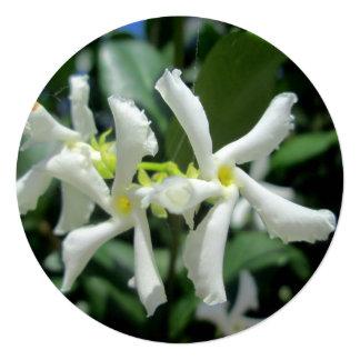 Jasmine White Tubes Flower 13 Cm X 13 Cm Square Invitation Card