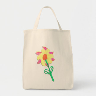 Jasmin's Flower Tote Grocery Tote Bag
