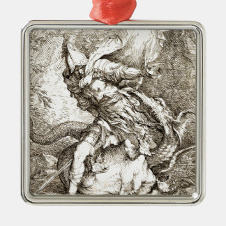 Jason and the Dragon (17th century Etching) Christmas Ornament