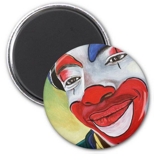 Jason the Clown 6 Cm Round Magnet