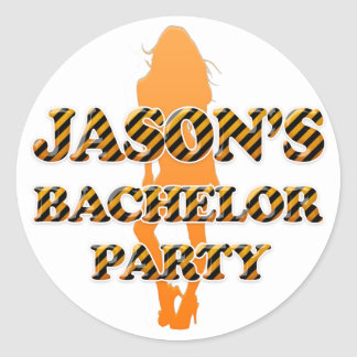 Jason's Bachelor Party Classic Round Sticker
