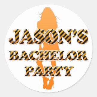 Jason's Bachelor Party Round Sticker