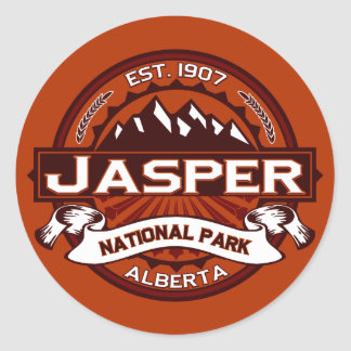 Jasper Crimson Round Sticker