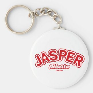 Jasper Leaf Basic Round Button Key Ring