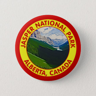 Jasper National Park, Alberta, Canada 6 Cm Round Badge