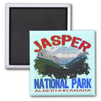 Jasper National Park, Alberta Canada Square Magnet