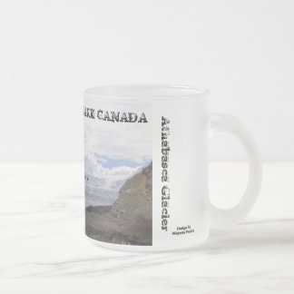 Jasper National Park - Athabasca Glacier Frosted Glass Coffee Mug