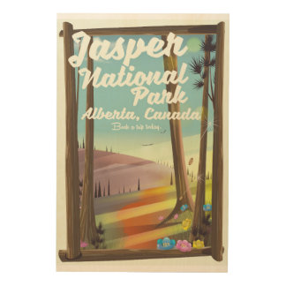 Jasper National park, Canada travel poster
