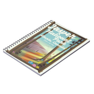 Jasper National park, Canada travel poster Notebook