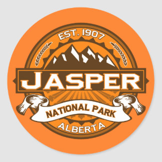 Jasper National Park Logo Round Sticker