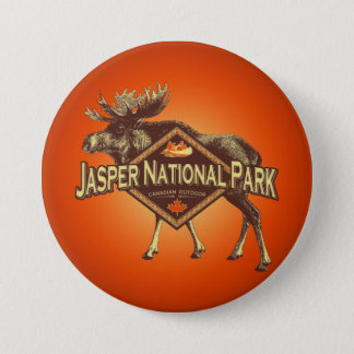 Jasper National Park Moose 7.5 Cm Round Badge