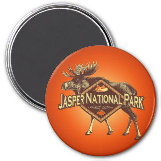 Jasper National Park Moose 7.5 Cm Round Magnet
