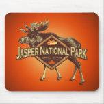 Jasper National Park Moose Mouse Pads