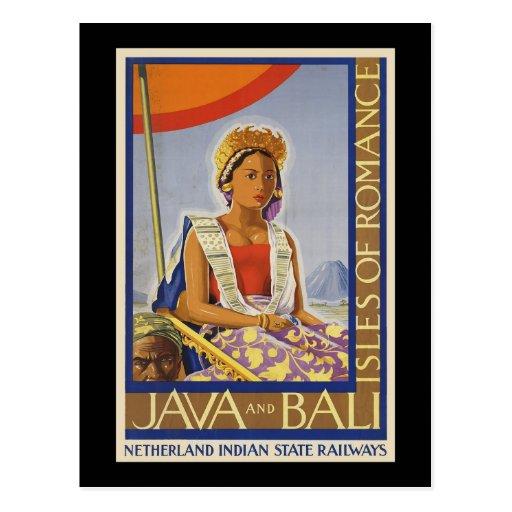 Java and Bali Isles of Romance Post Card