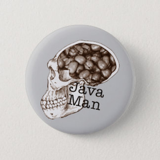 Java Bean Man 6 Cm Round Badge