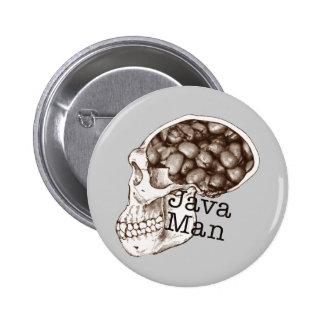 Java Bean Man 6 Cm Round Badge
