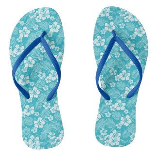 Java Blue Hawaiian Flip Flops