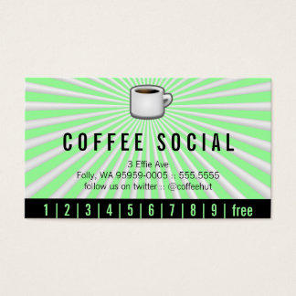 Java Logo Drink Burst Loyalty Business Card