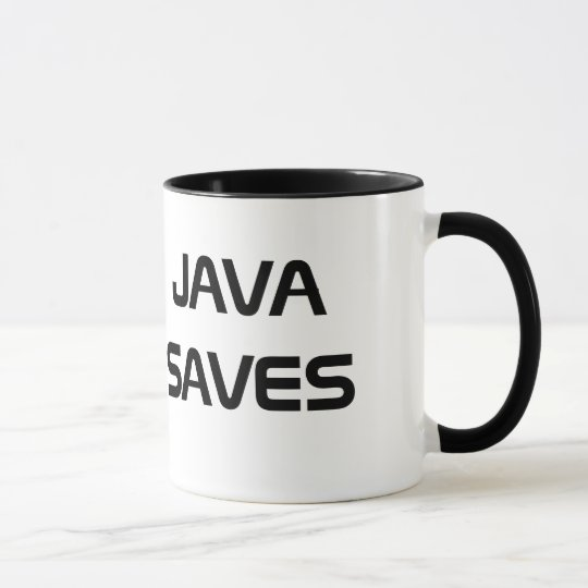 Java Saves Coffee Mug