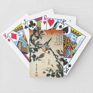 Java Sparrow and Kobushi Magnolia by Hokusai Bicycle Poker Cards
