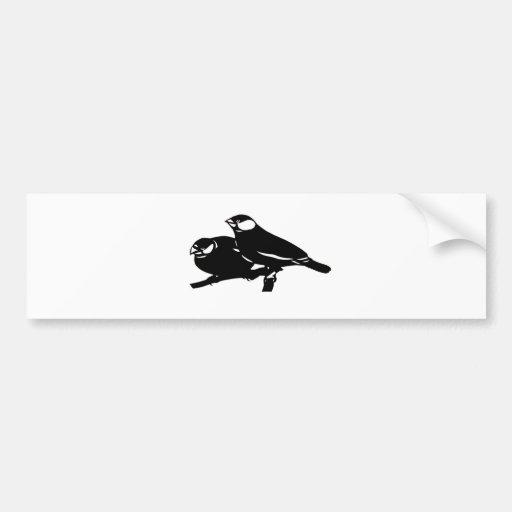 Java sparrow bunchiyougutsuzu cutting picture Rice Bumper Stickers
