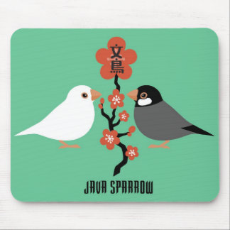 Java sparrow mouse pad