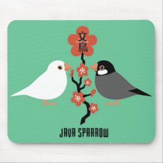 Java sparrow mousepads