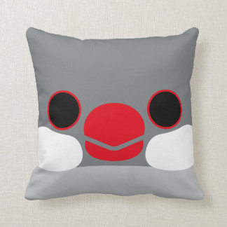 Java sparrow Silver Throw Pillows