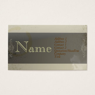 JAVA STAIN BUSINESS CARD