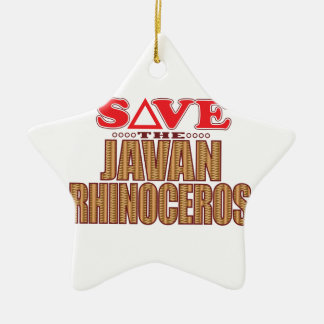 Javan Rhino Save Christmas Ornament